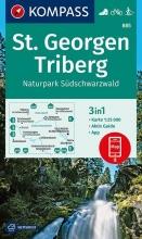 , St. Georgen, Triberg, Naturpark Südschwarzwald 1:25 000