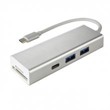 , Hub Hama 3.1 USB-C naar USB-A 2x + USB-C + kaartlezer