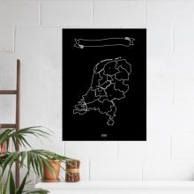 , Nederland Krijtkaart 60 x 90cm