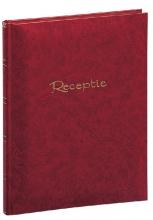 , Receptiealbum garen gebonden 205x260mm rood