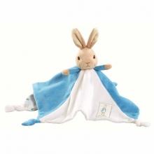 , Peter Rabbit knuffeldoekje/tutje blauw 30cm (6x in verpakking)