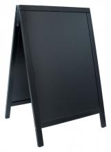 , Stoepbord Securit 55x85x3cm zwart hout