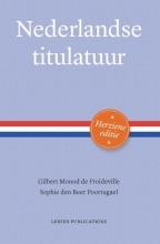 Sophie den Beer Poortugael Gilbert Monod de Froideville, Nederlandse titulatuur