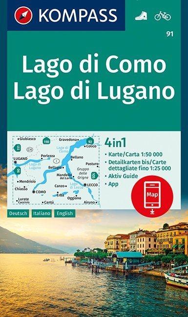,Lago di Como, Lago di Lugano 1:50 000