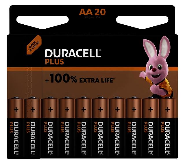 ,Batterij Duracell Plus 20xAA