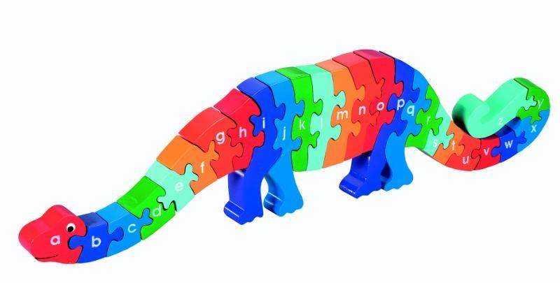 ,Houten puzzel Dinosaurus - Alfabet - Lanka Kade