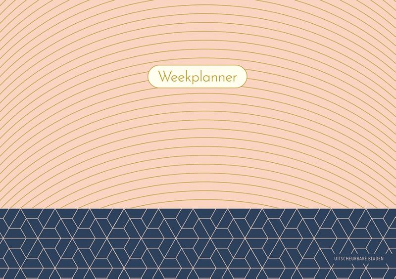 ZNU,Weekplanner - Pink Patterns