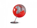 ,globe Anglo Red 25cm diameter metaal / chrome