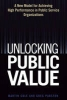 Cole, Martin,Unlocking Public Value