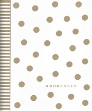 Gold Dots Large Address Book
