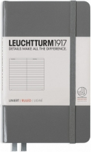 Lt344775 , Leuchtturm notitieboek pocket 90x150 lijn anthraciet