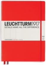 , Leuchtturm notitieboek master slim a4 points/bullets red