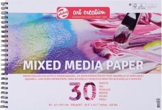 9312001m , Talens art creation blok mix media  a3 42x29.7 cm 250 mg 30 vel