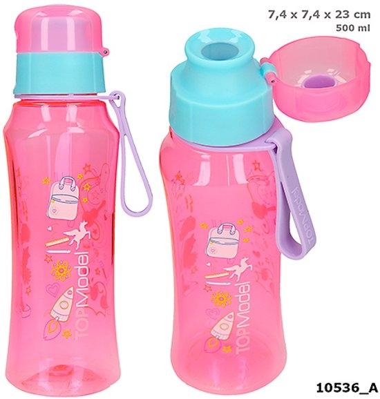 ,Topmodel drinkfles roze