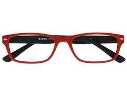 ,Leesbril +1.00 Feeling rood-zwart