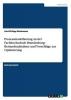 Böckmann, Karl-Philipp, Prozessmodellierung an der Fachhochschule Brandenburg: Bestandsaufnahme und Vorschläge zur Optimierung