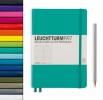 Lt359700 , Leuchtturm notitieboek pocket 90x150 lijn pacific blauwgroen