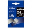 , Labeltape Brother P-touch TZE-355 24mm wit op zwart