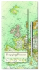 , Shopping planner magnetisch + pen - vintage map