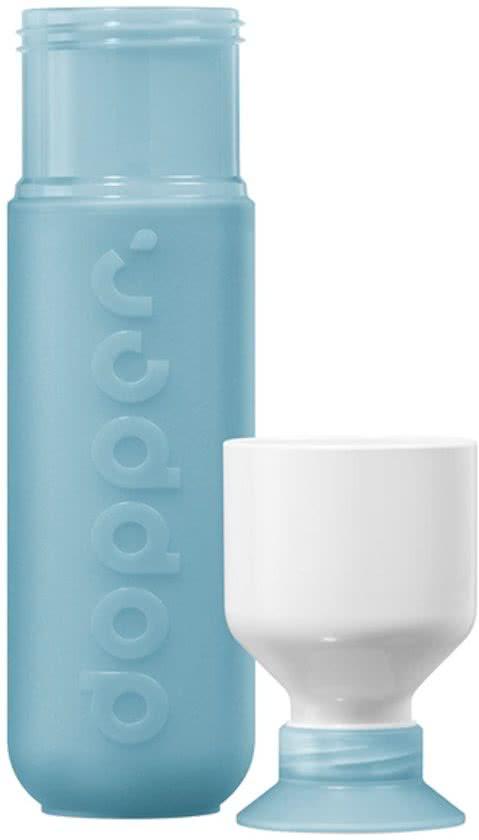 0857 doppercode,Dopper drinkfles lichtblauw blue lagoon
