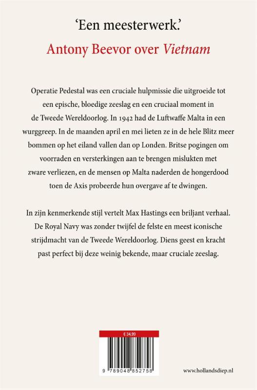 Max Hastings,Operatie Pedestal