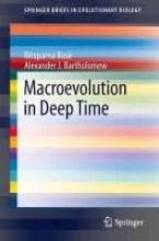 Bose, Rituparna,   Bartholomew, Alexander Macroevolution in Deep Time