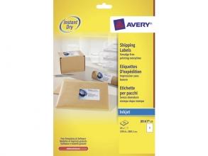 , inkjetetiket Avery 199,6x289,1mm wit 25 vel 1 etiket per vel