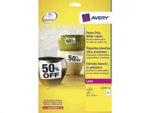 , weerbestendig etiket Avery 63,5x33,9mm 20 vel 24 etiketten  per vel
