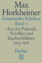 Horkheimer, Max Gesammelte Schriften I