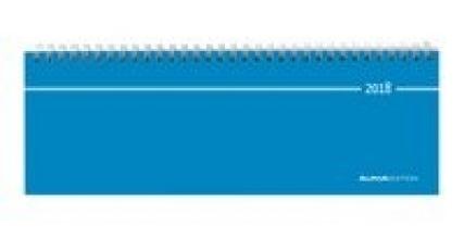 Tisch-Querkalender blau 2018