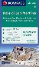 , Pale di San Martino, Fiera di Primiero, Paneveggio, Valle del Vanoi 1:25 000