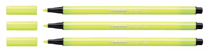 , Viltstift STABILO Pen 68/024 neon geel