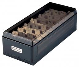 , Visitekaartenbak KW-TRIO 75x105x270mm tbv 800 visitekaartjes metaal