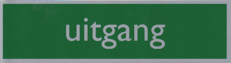 , Infobord pictogram uitgang 165x44mm
