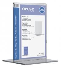 , Kaarthouder OPUS 2 T-standaard A6 staand acryl