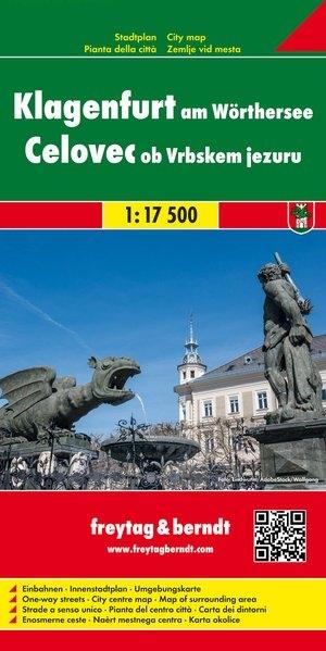 ,Klagenfurt am Wörthersee, Stadtplan 1:17.500