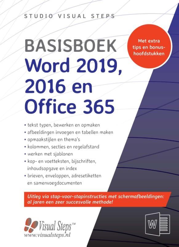 Studio Visual Steps,Basisboek Word 2019, 2016 en Office 365