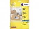 ,inkjetetiket Avery 199,6x289,1mm wit 25 vel 1 etiket per vel