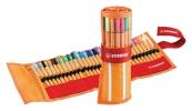 ,<b>Fineliner STABILO point 88 rollerset oranje/rood à 30 kleuren</b>