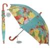 ,Paraplu kinderen vintage world map