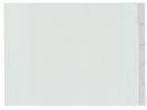 ,tabblad Kangaro A3 venster PP 120mµ grijs 4-gaats 5-delig   dwars EB