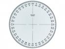 ,kompasroos Aristo 360° 12 cm glashelder plexiglas
