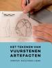 Yannick  Raczynski-Henk,Het tekenen van vuurstenen artefacten