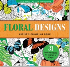 Floral Designs Artist`s Adult Coloring Book