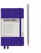 Lt346681 , Leuchtturm notitieboek pocket 90x150 lijn purple