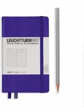 Lt346681 , Leuchtturm notitieboek pocket 90x150 lijn purple