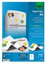 , magneetpapier Sigel A4 wit 5 vel voor inkJet