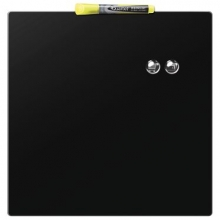 , Whiteboard Rexel 36x36cm zwart magnetisch