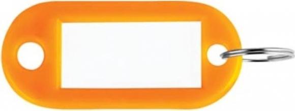 , Sleutellabel Pavo kunststof oranje