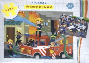 , We komen je redden! - puzzel 2 x 24 stukjes
